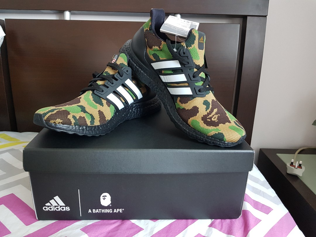 2a38515e995bd US 9 adidas x a bathing Ape ultraboost green camo