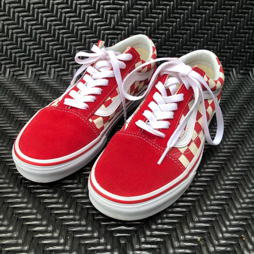 316d4388d9 Vans Red Checkered Shoes