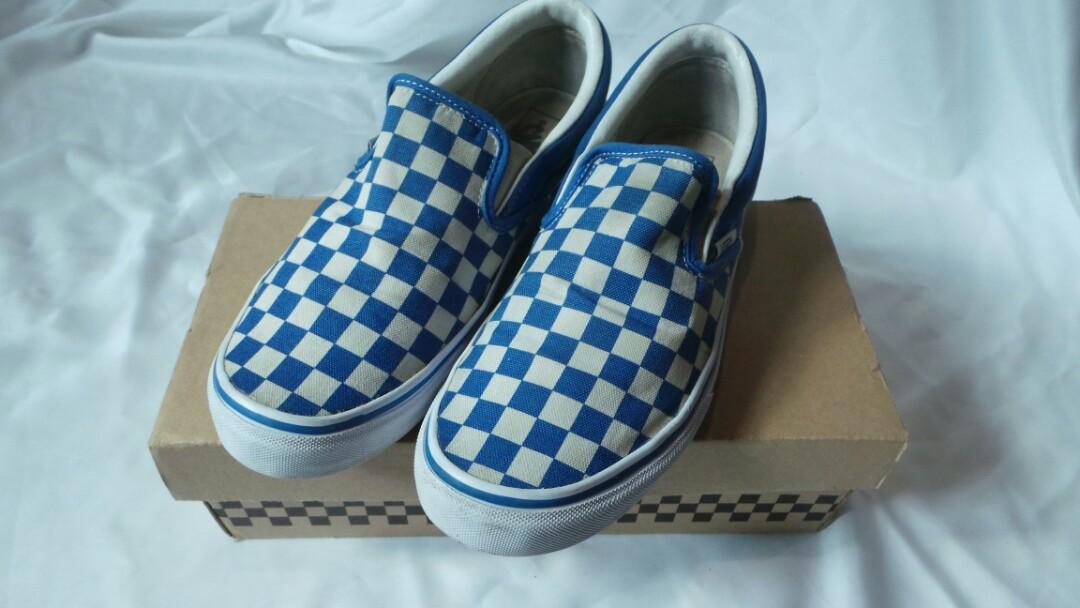 Vans Slip On V98CL Checkerboard Blue c6c1290e3c