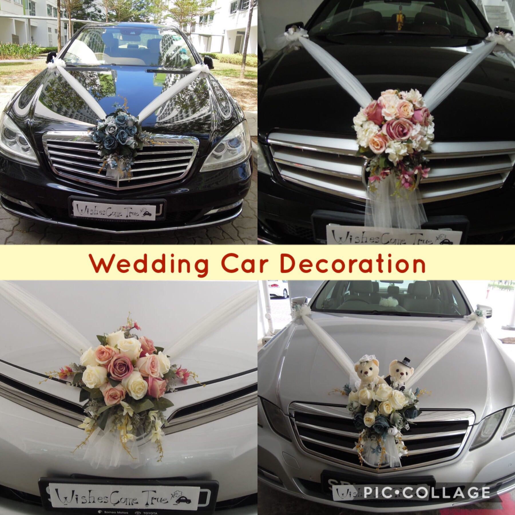 Wedding Car Deco Bridal Car Decor Wedding Car Decoration