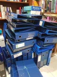 🚚 (NOT AVAIL) Second hand ring files arch files 3 FOR $1