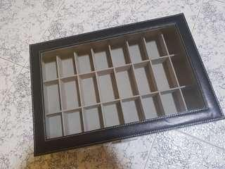 Used Black PVC 24 Slots Amulet Storage
