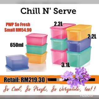 Tupperware Chill n Serve set