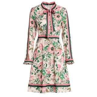 Runway Sweet Flower Printed Dress