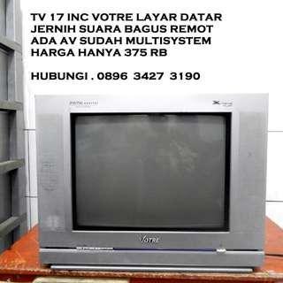 Tv 17inc VoTre XTreme FLat Jernih Remot ada Katapang Kab Bandung