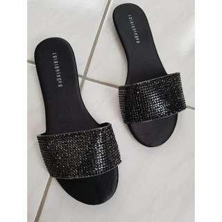 Fashion Nova Bejeweled Slides