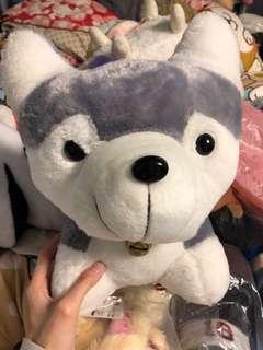 全新 特價年宵公仔 灰色 西伯利亞雪橇犬