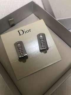 Dior new logo authentic clip earrings 夾耳環