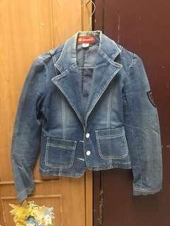 Jaket Jeans / denim jacket model varsity