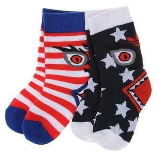 🚚 全新 adidas Originals 嬰幼童襪子 兩雙一組