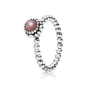 Pandora October Birthday Blooms Ring