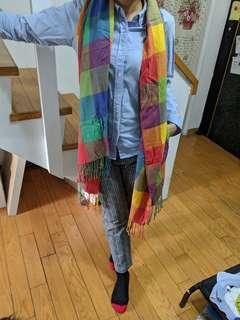 🚚 格紋多色圍巾