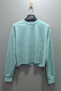 Mint Green Long Sleeve Crop Top