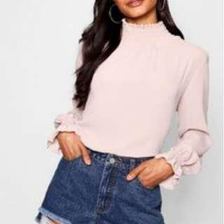 Boohoo Collar Blouse