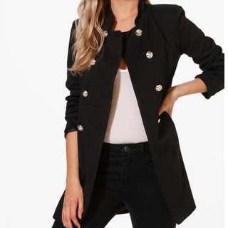 Military-Style Blazer/Coat