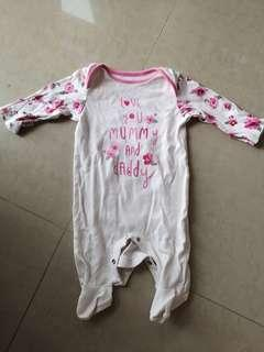 Mothercare Baby Girl Sleepsuit