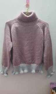 韓製翻領毛衣