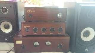 YY hifi1875年德國版古董前後廣音机EQ