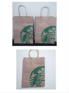 3 buah Starbucks Paperbag Preloved Original