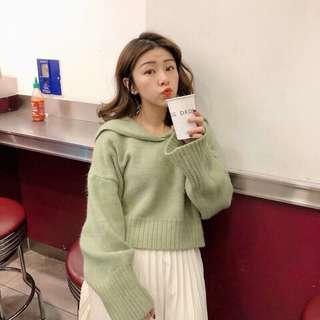 (全新)轉賣 韓國 水手領 毛衣  針織上衣