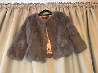 Real fur coat size small