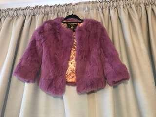 Pink/purple fur coat size small