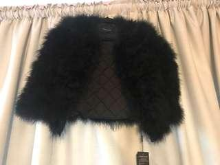 Black fur coat size small