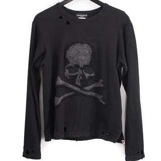 Mastermind Japan Skull Destroyed L/S Shirt (S)