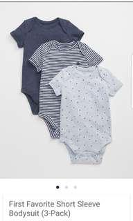 Baby Gap favorites onesies new condition. size 6 to 12 months purchased new for $33 (for 3 onesies).  Pick up Gerrard and Main Street for $9 or Yorkville for $10 for both onesies.