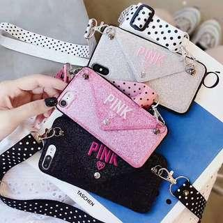 🚚 PINK Phone case with Sling strap