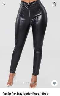 Fashion nova leather pants