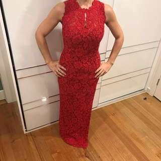 Hera couture hand made red dress