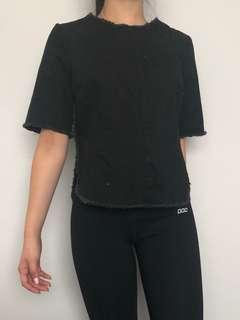 Milk and Honey boxy top with frayed detailing