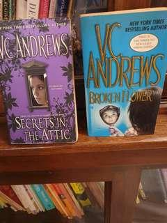 English Novel. V.C.Andrews. Secrets in the attic. Rm20 for the set.