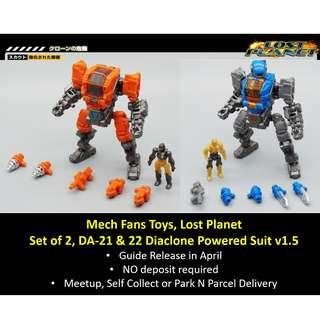 [Preorder] Mech Fans Toys MFT, Lost Planet set of 2, DA-21 & 22, Diaclone Powered Suit Version 1.5