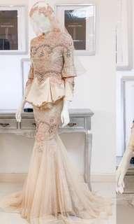 Wedding Dress baju sanding inderaloka ( sewa)