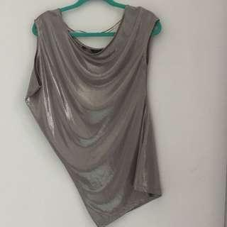 Guess silver top XS