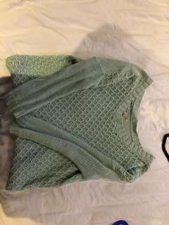 Light green/blue knit American Eagle sweater