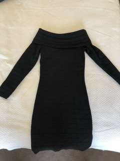 Bardot long sleeve dress