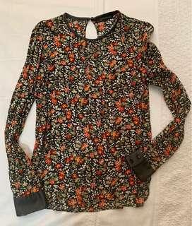 Zara Floral Print Blouse (Preloved)