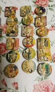 Snoopy 7-11磁石夾整全套