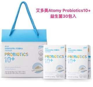 韓國連線艾多美Atomy Probiotic 10+益生菌30包入(單包2.5g)現貨