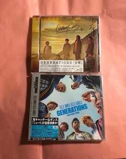 全新 Generations from exile tribe Single CD 少年 FLY BOYS FLY GIRLS