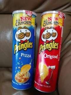 Pringles 薯片 原味 pizza 味 10元/1 15/2 食用日期2019年11月