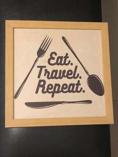 Eat, Travel, Repeat wall decor