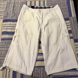 MEN'S: Ego Denim White Cargo Shorts