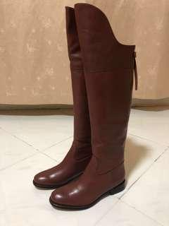 🚚 Brand New Schutz Brown Leather Boots