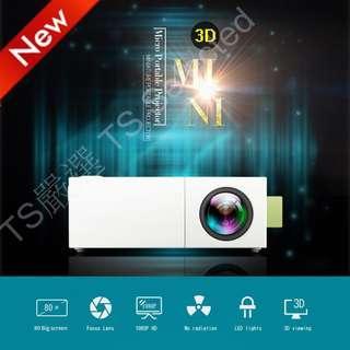 🚚 新款 增強版 超迷你 微投影機 內建電池 大螢幕 投影機 手持 微 投影儀 支援 1080P 格式 非 液晶 電視 mini portable LED projector for iphone android HDMI Devices