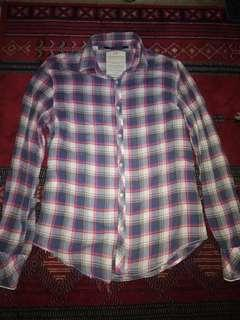 Kemeja flanel scotch & soda