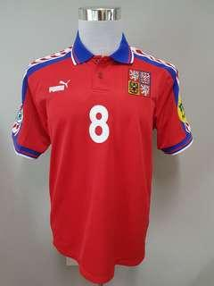 Czech Republic Euro 96 Jersey. No 8 Karel Poborsky